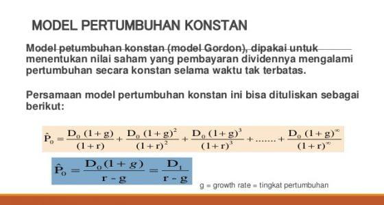 Apa Itu Model Pertumbuhan Gordon Growth Model (GGM)
